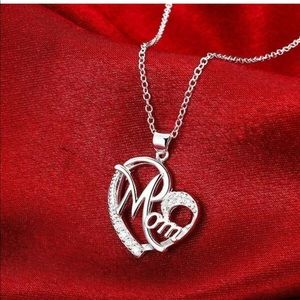 New Mom 925 silver pendant necklace